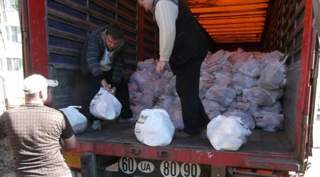Добровольческие батальоны пропустили только один грузовик с гуманитарной помощью от Рината Ахметова