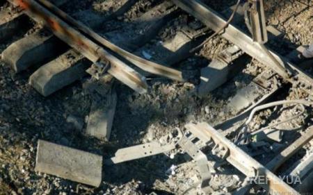Взрыв на железнодорожном мосту в Запорожской области