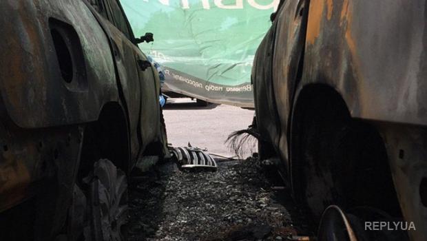 В ДНР «знают», кто сжег автомобили миссии ОБСЕ