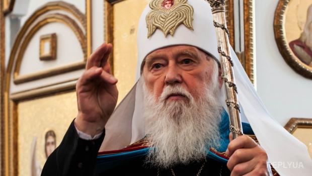 Патриарх Филарет освятил и передал на фронт три микроавтобуса