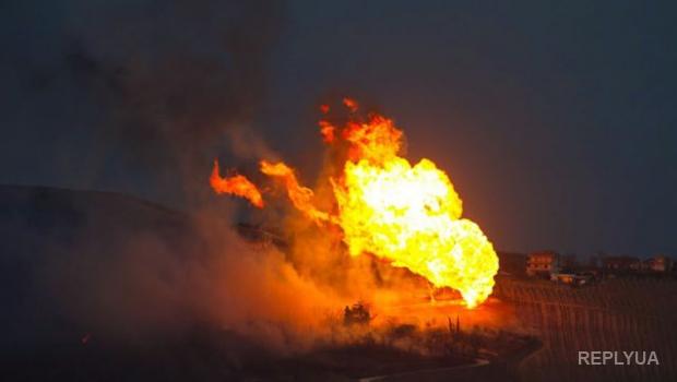 В Турции террористы взорвали газопровод