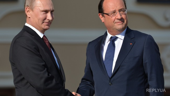 Во время переговоров Олланда и Путина в Москве тему санкций обсуждать не планируется