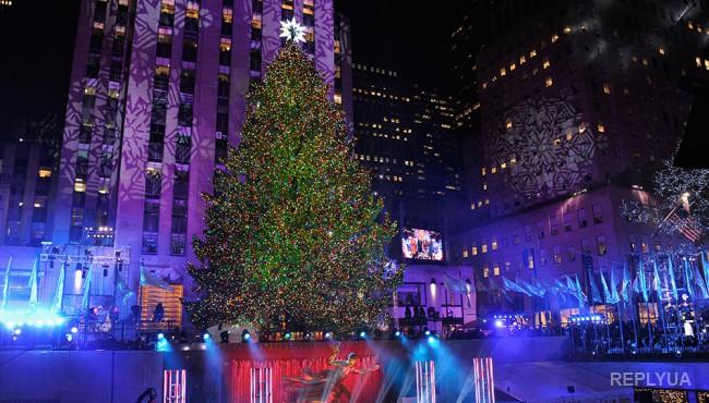 Нью-Йорк: главная елка США радует глаз