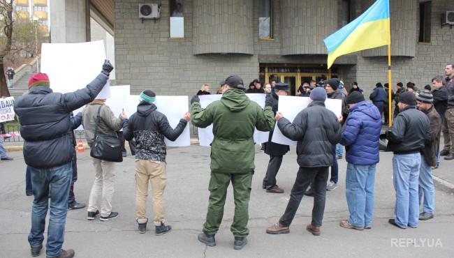 В Киеве требовали отставки главы ОщадБанка Андрея Пышного - фото