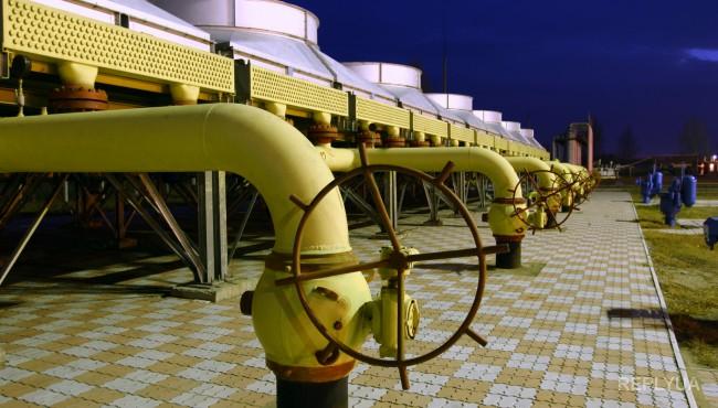 Запасы газа в хранилищах резко сокращаются
