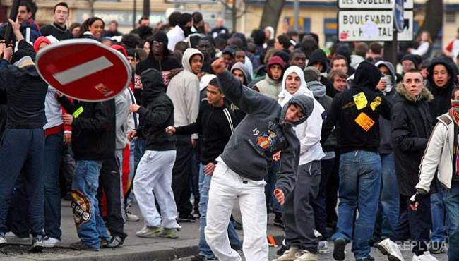 Мигранты во Франции взбунтовались