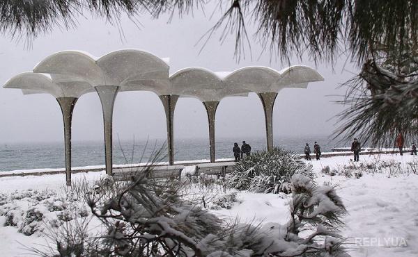 В Крыму резкое похолодание и первый снегопад