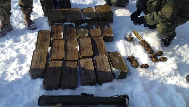 В Луганской области вскрыт тайник с огромным запасом боеприпасов и оружия
