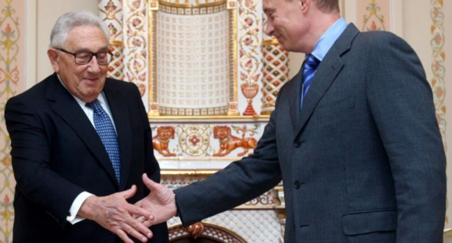 Для чего госдеп США направил Кисинджера к Путину
