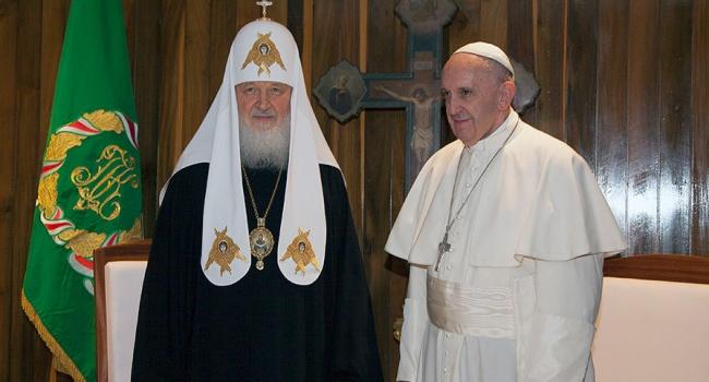 Соглашение папы Франциска и патриарха Кирилла вызвало скандал в Украине