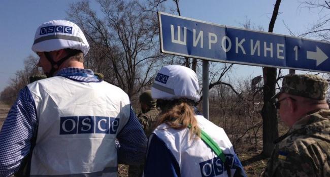 Миссия ОБСЕ отыскала убоевиков замаскированные станции помех. Еебеспилотник разбился