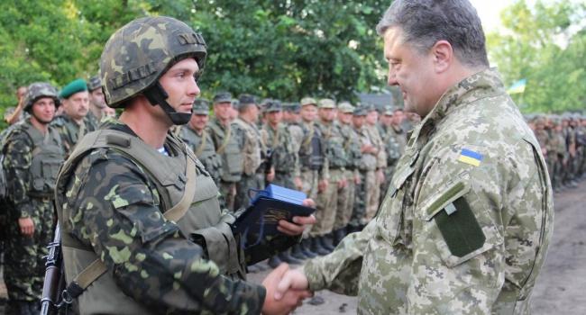 Боевики обстреливали позиции АТО, накоторых был Порошенко