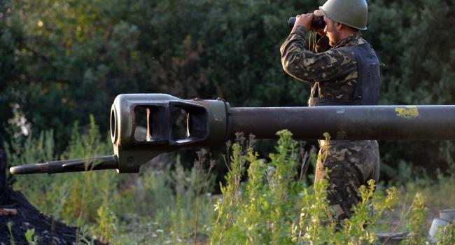 Боевики наДонбассе применили тяжелую артиллерию против сил АТО
