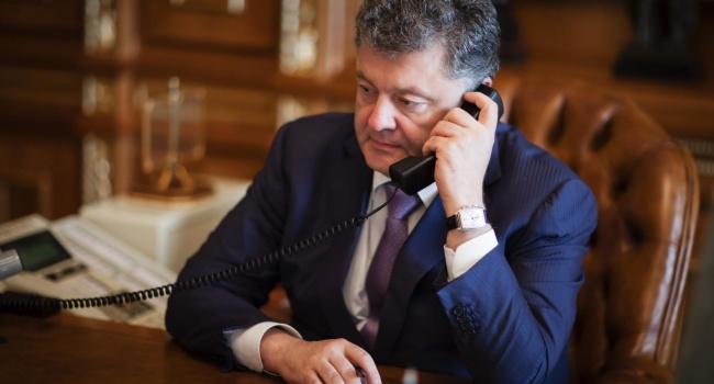 О чем говорил Петр Алексеевич Порошенко по телефону с Ангелой Меркель и Франсуа Олландом?