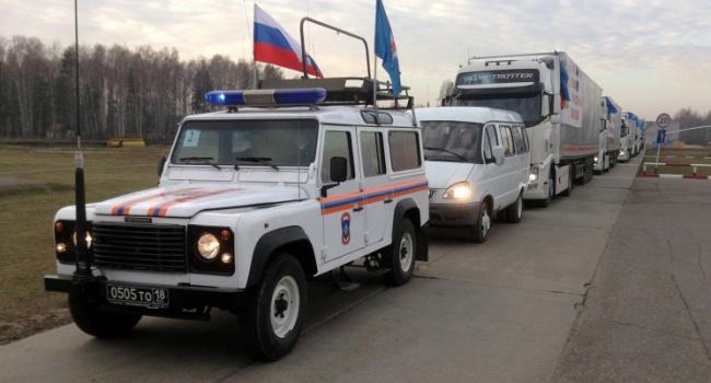 Автомобили 55-го «гумконвоя» РФзаполнены максимум на30%,— Слободян
