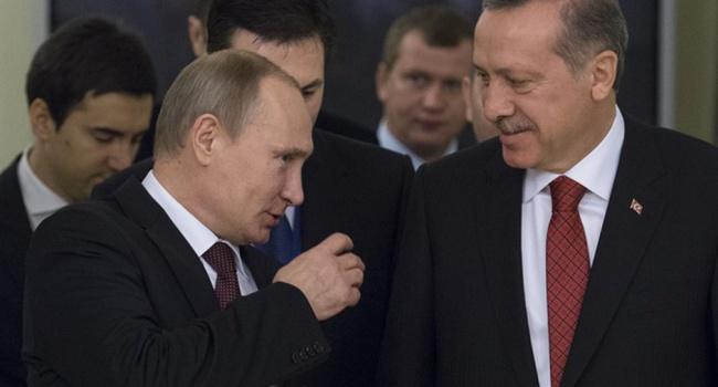 Путин иЭрдоган побеседовали  потелефону