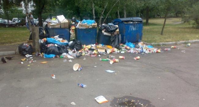 Районы Львова продолжают утопать в мусоре