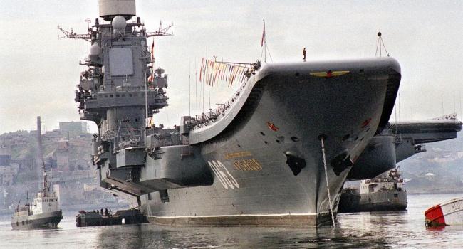 РФ отправила вСредиземное море авианосную группу кораблей