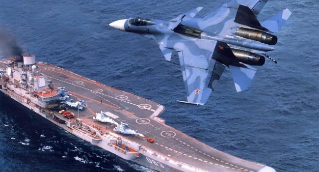 В Средиземном море российский истребитель разлетелся вдребезги