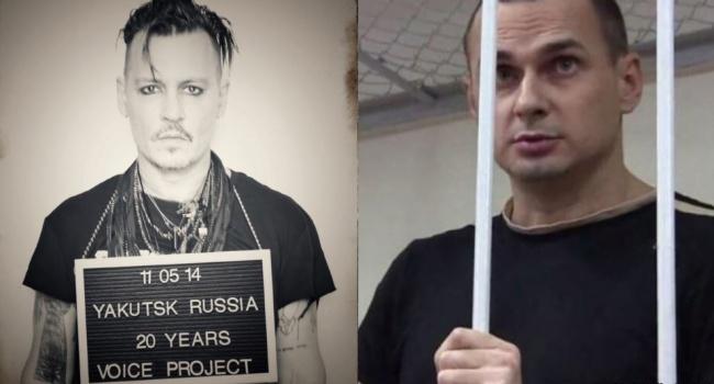 Джонні Депп став на захист Олега Сенцова у сміливому проекті