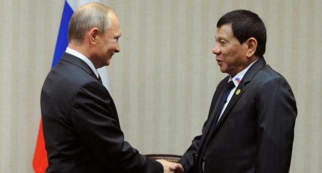 Дружба Путина и Дутерте может стать новой угрозой для Запада - Reuters