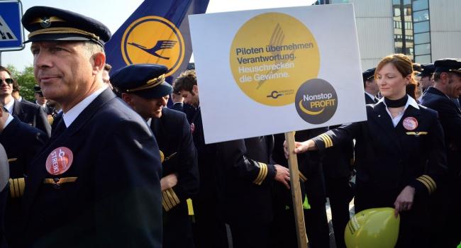 Lufthansa предложила забастовщикам увеличение заработной платы  на4,4% задва года