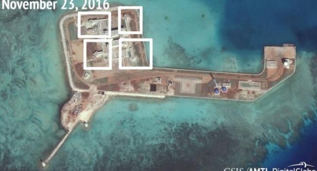 КНР сооружает системы противоракетной обороны наискусственных островах вЮжно-Китайском море— специалисты