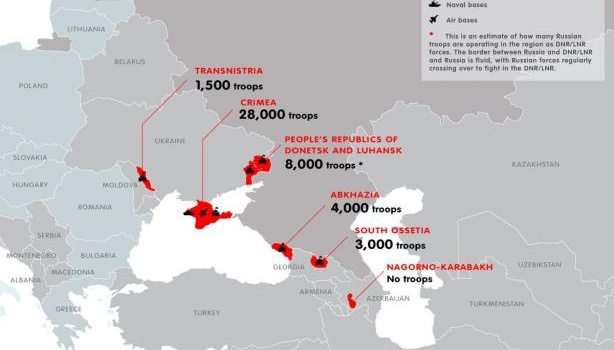 Евродепутат продемонстрировал масштабы русской военной оккупации— инфографика