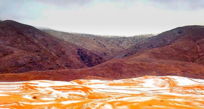 ВСахаре впервый раз занесколько десятков лет выпал снег