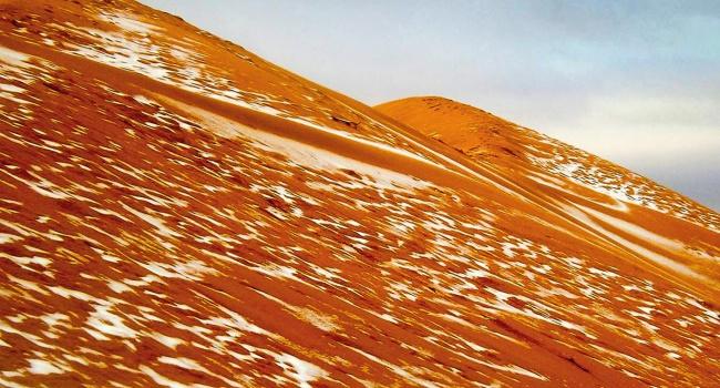 Размещено видео снега вСахаре: автор прославился навесь мир