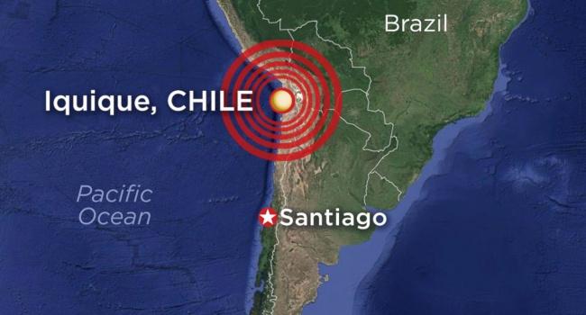 Уберегов Чили случилось сильное землетрясение, объявлена угроза цунами