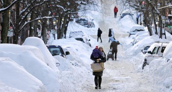 Снег, гололед исильные морозы