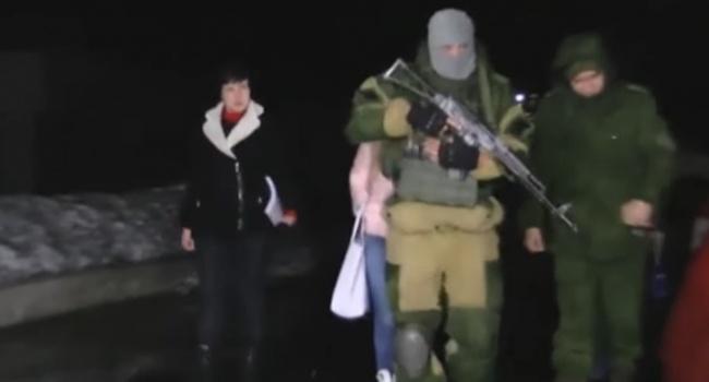 Опубликовано видео с Надеждой Савченко и боевиками «ДНР»