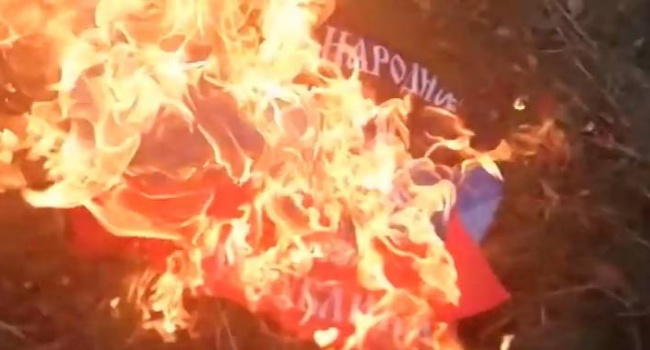 Фанаты «Шахтёра» сожгли флаг «ДНР» на матче в Харькове