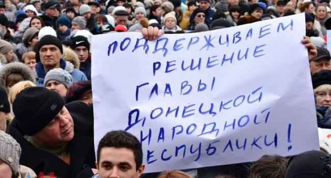 На Донбасі провели мітинг проти блокади