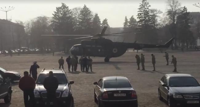 Вцентре Чернигова сел генеральский вертолет: граждане города возмущены