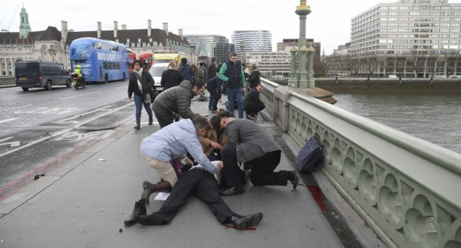 Обнародованы кадры сместа теракта встолице Англии