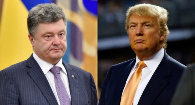 Предупредим за24 часа: Трамп поставил Порошенко нанизкий старт