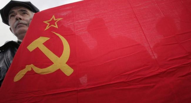 В Одеській області підняли прапор Радянського Союзу