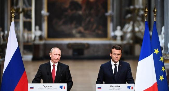 Макрон звинуватив російські ЗМІ Russia Today і Sputnik унаклепі