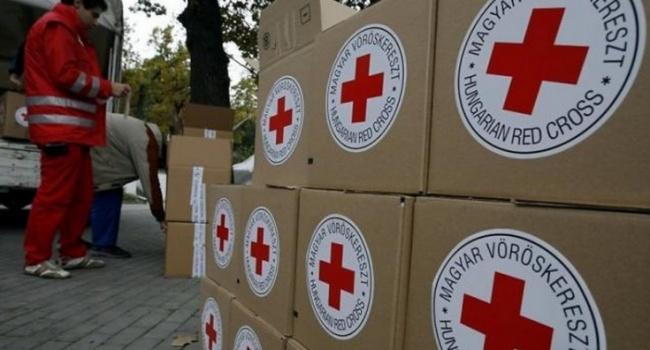 Представникв Червоного Хреста обстрляли на Донбас