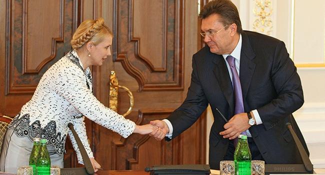Тимошенко забула, як на 25 років вперед поділила з Януковичем Україну і втюхує суспільству пропахлий нафталіном набір локшини, - блогер