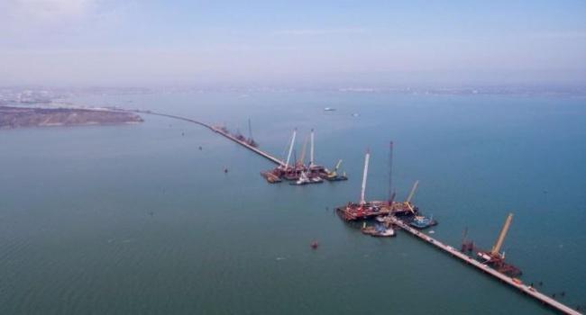 «Строительство идет полным ходом», - появились новые снимки Керченского моста