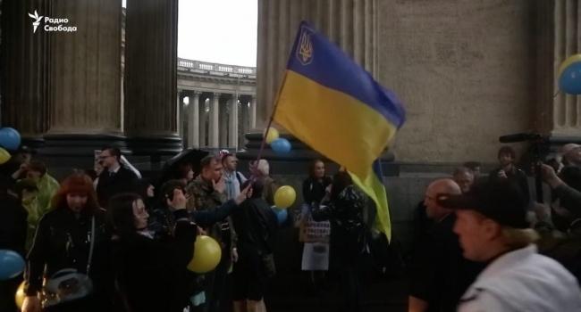 Жители Петербурга провели акцию «Крым – не мой!» Ворованного не принимаю»