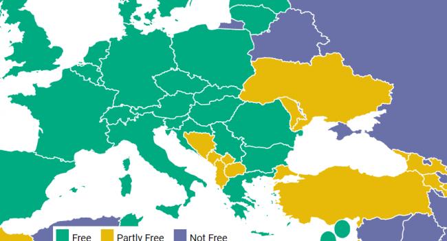 У звіті Freedom House Крим віднесли до Росії