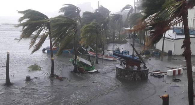 Мощь урагана «Ирма» показали навидео