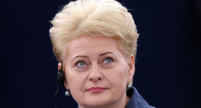 Грибаускайте: Вовремя учений в Белоруссии РФучит свою армию штурмовать Запад