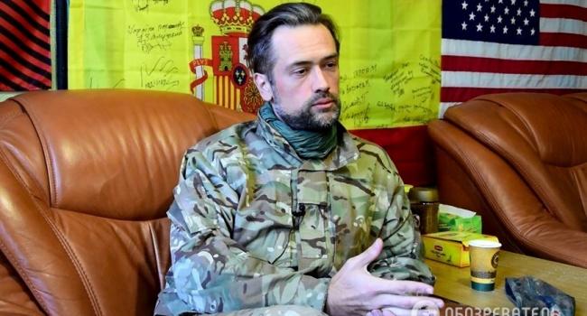 Воюющий настороне украинской столицы артист Пашинин назвал себя «нежным цветочком»