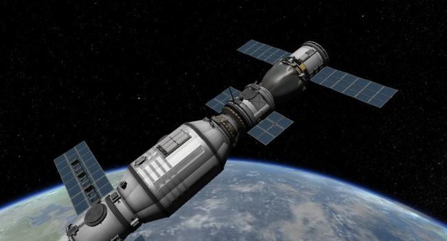 Китайская космическая станция бесконтрольно падает наЗемлю,