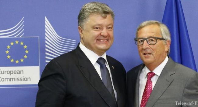 Порошенко обсудил сЮнкером реализацию перемен вгосударстве Украина